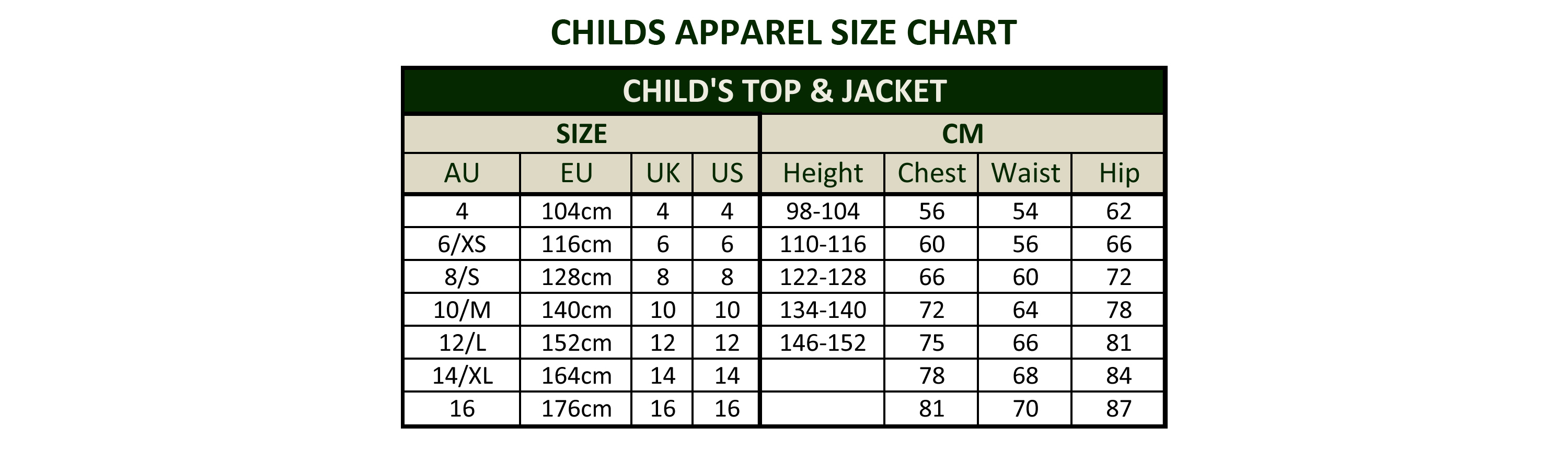 Childs Apparel Size Chart Jpg
