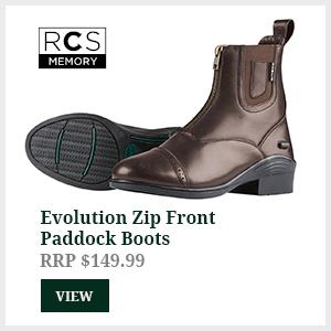 Evolution Zip Front Paddock Boots