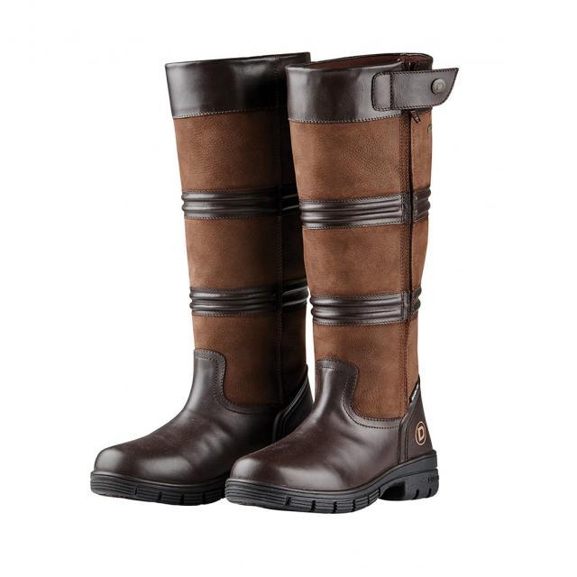 Dublin Husk Zip Boots II Chocolate
