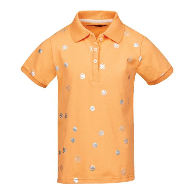 Dublin Dolly All Over Printed Polo Cantaloupe Orange