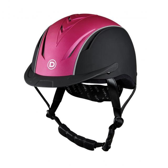 Dublin Airation Arrow Metallic Helmet Black/Metallic Pink
