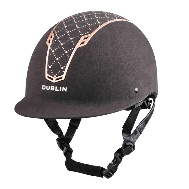Dublin DB Primo Diamond Helmet Black/Rose Gold