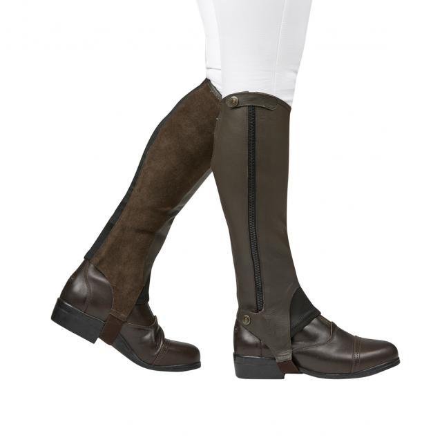 Dublin Elite Leather Half Chaps Brown
