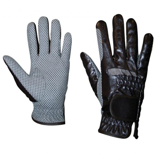 Dublin Equigrip Riding Gloves III Brown/Grey