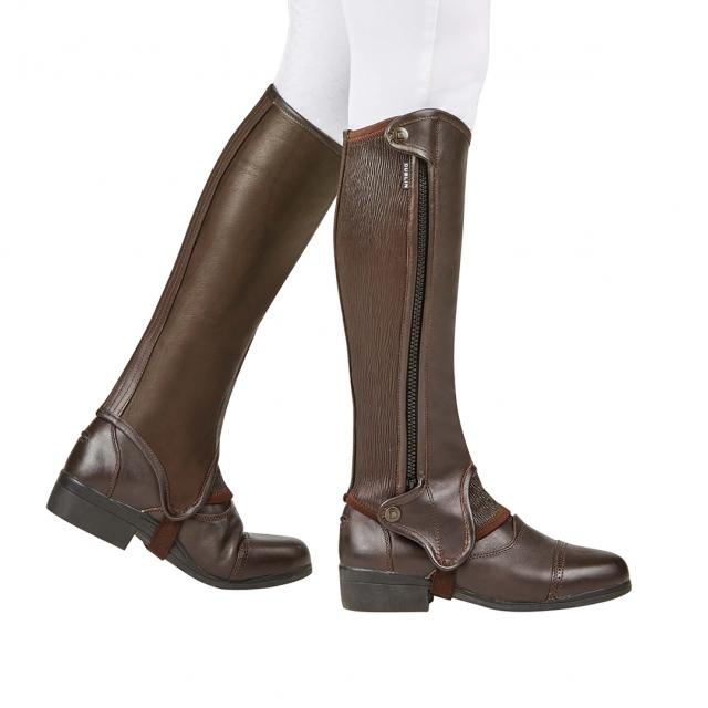 Dublin Evolution Side Zip Half Chaps Brown