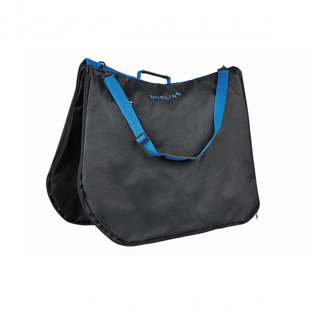 Dublin Imperial Saddle Pad Bag Black/Blue