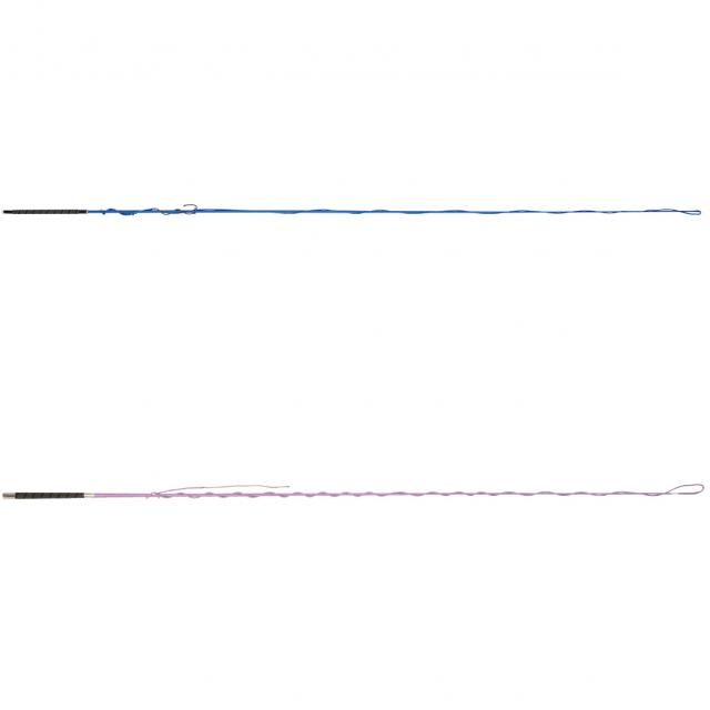 Dublin Lunge Whip with Grip Handle Blue & Purple