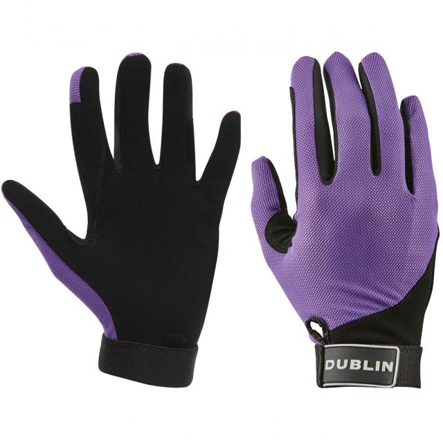 Dublin Meshback Riding Gloves Purple