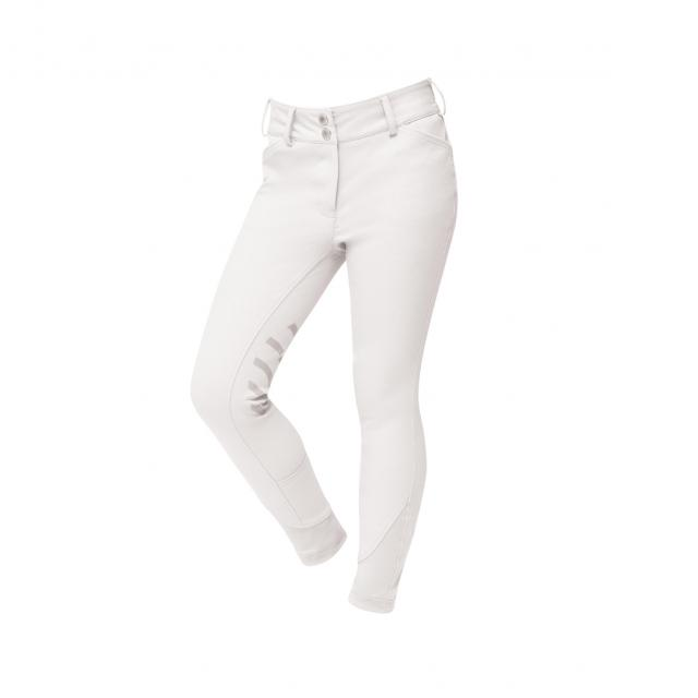 Dublin Prime Gel Youth Knee Patch Breeches White