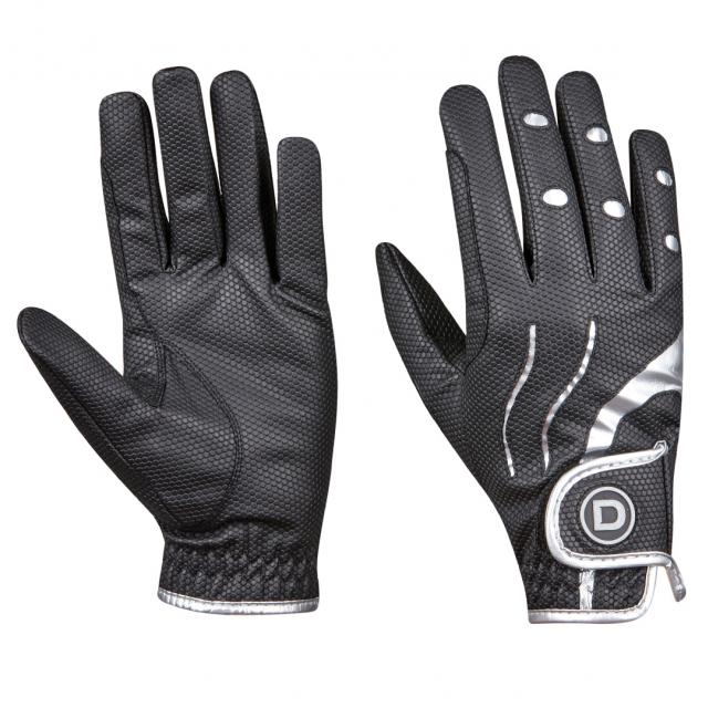 Dublin Pro Everyday Riding Gloves Black/Silver