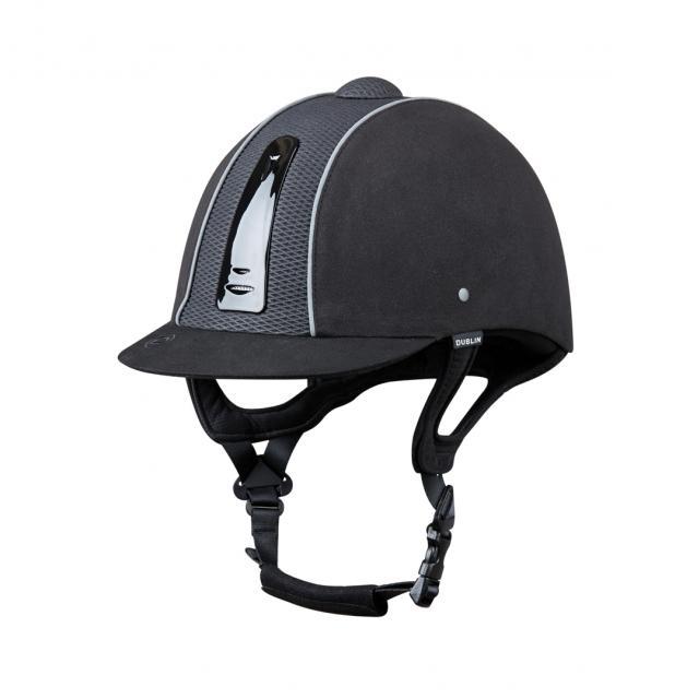 Dublin Silverline Diamond Piped Helmet Black/Silver