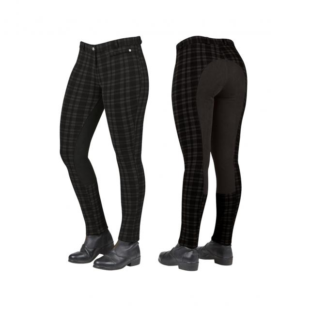 Dublin Supa-Fit Full Seat Jodhpurs Black Check