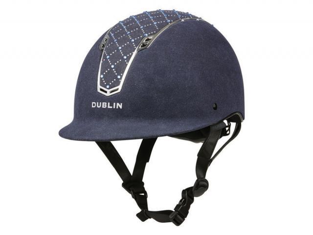 Dublin DB Primo Diamond Helmet Navy/Chrome