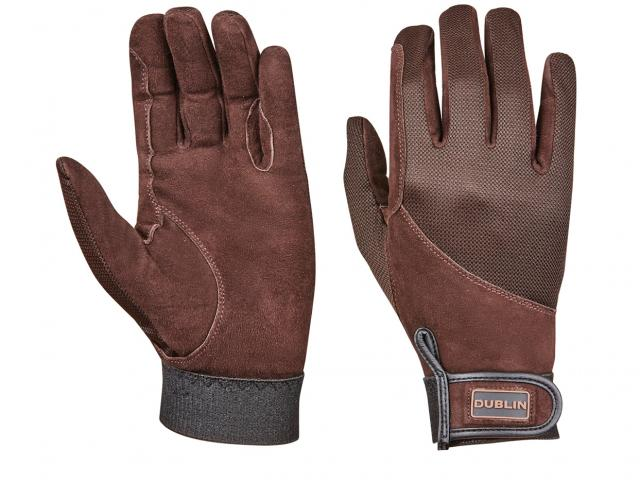 Dublin Everyday Suede Leather Riding Gloves Chocolate