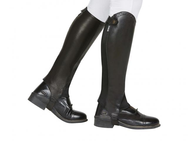 Dublin Evolution Rear Zip Half Chaps Black