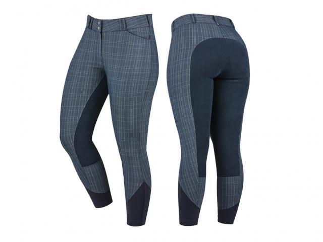 Dublin Prime Full Seat Breeches Blue Plaid