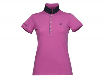 Dublin Lily Cap Sleeve Polo Red Violet