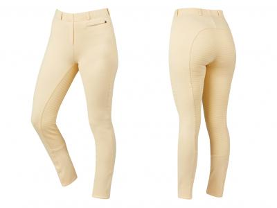 Dublin Supa-Fit Pull On Gel Full Seat Year Round Jodhpurs Beige