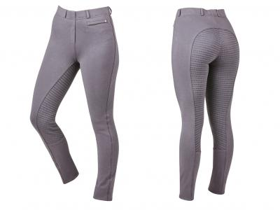 Dublin Supa-Fit Pull On Gel Full Seat Year Round Jodhpurs Dark Gull Grey
