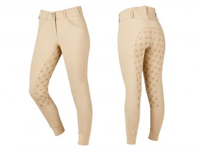 Dublin High Rise Power Full Seat Gel Print Breeches Beige