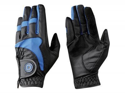 Dublin Lycra Mesh Riding Gloves Black/Blue