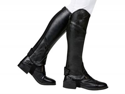 Dublin Stretch Fit Padded Half Chaps Black