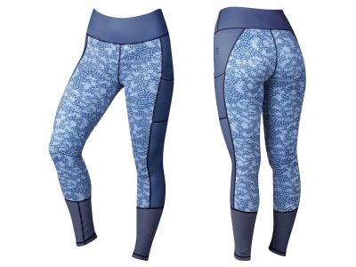 Dublin Sculpt Printed Mid Rise Tights Blueberry Navy