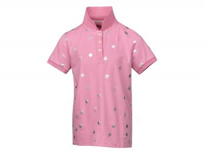 Dublin Dolly All Over Printed Polo Coral Pink