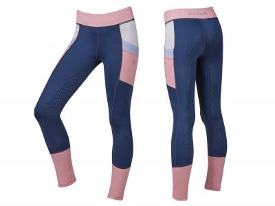 Dublin Lucy Colour Block Full Grip Tights Blueberry Navy