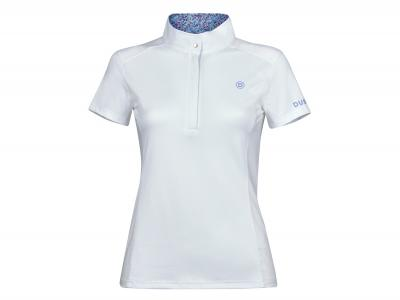 Dublin Andy Short Sleeve Competition Printed Inner Collar Shirt White/Lavender