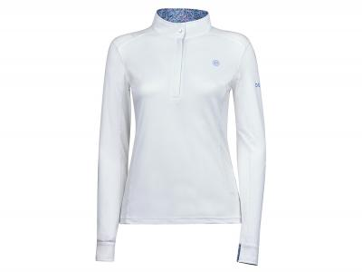 Dublin Andy Long Sleeve Competition Printed Inner Collar Shirt White/Lavender