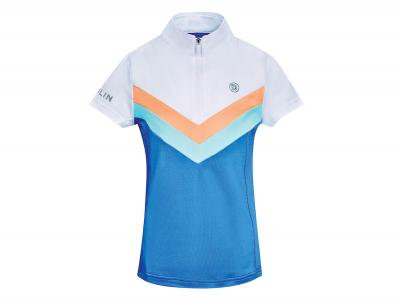 Dublin Justine Colour Block Short Sleeve Competition Shirt Federal Blue