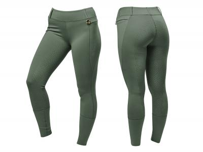 Dublin Cool It Everyday Riding Tights Olive Green