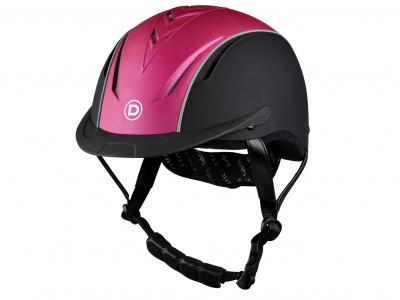 Dublin Airation Arrow Metallic Helmet Black/Metallic Pink
