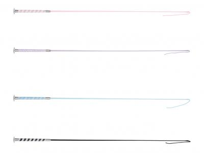 Dublin Dressage Whip With Crystal Handle Pink, Purple, Blue & Black