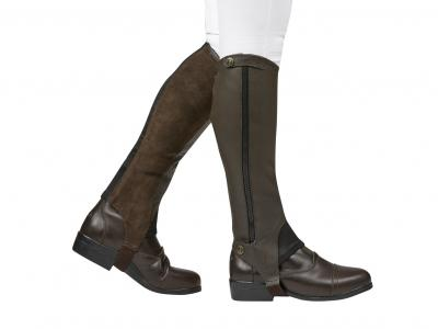 Dublin Elite Leather Half Chaps Brown