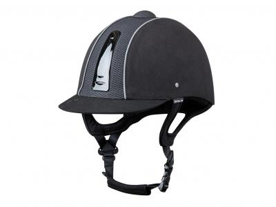 Dublin Silverline Diamond Piped Helmet Black/Silver