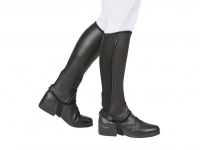 Dublin Super Flex Fit Half Chaps Black