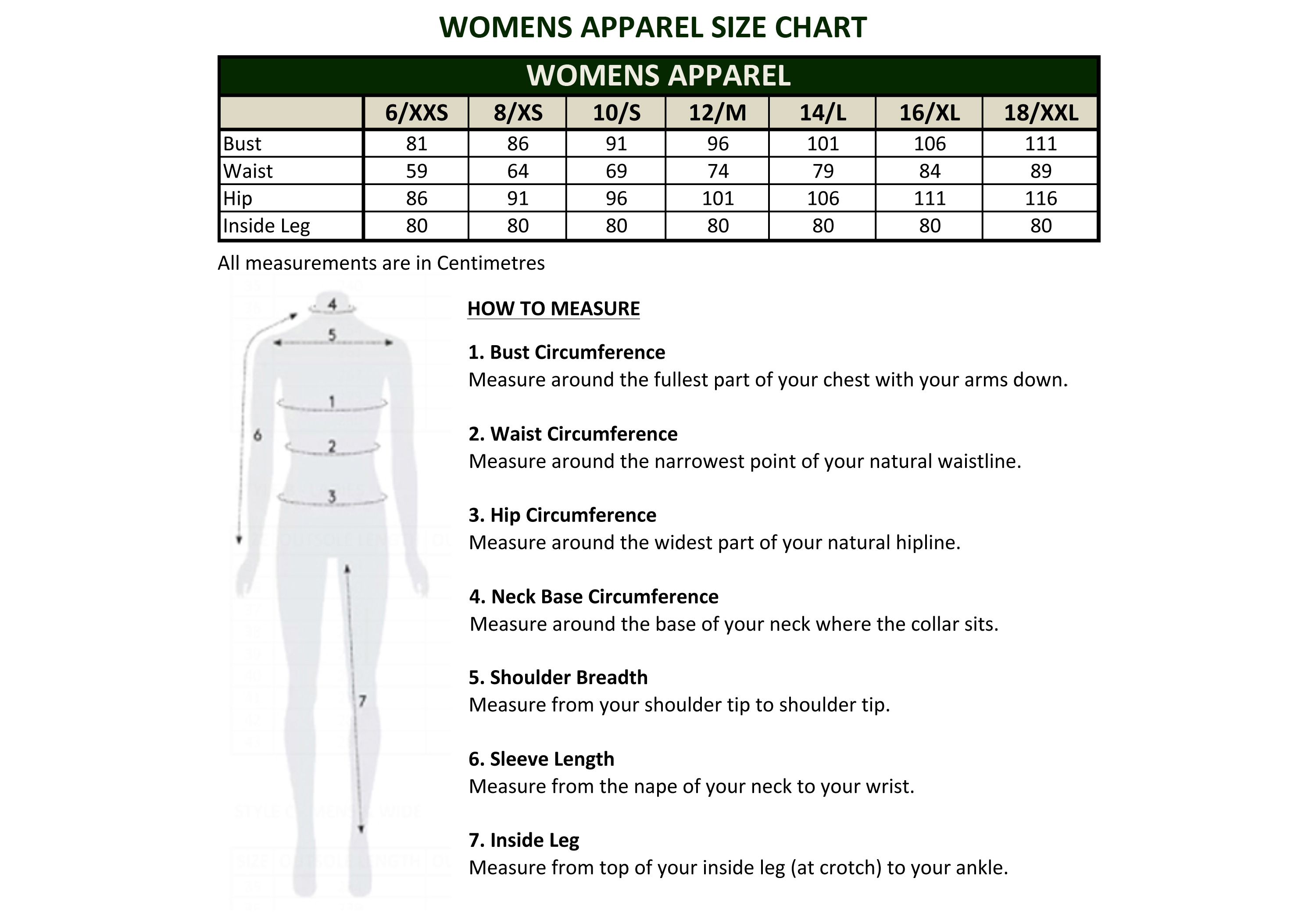 Australian Shirt Size Chart Top Mode Depot